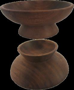 Double Bowl in Walnut