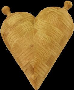 Oak Segmented Heart Box