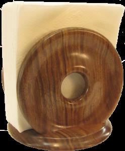 Walnut Napkin Holder 2015 5433 Pin
