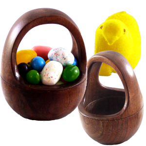 Walnut Egg Basket